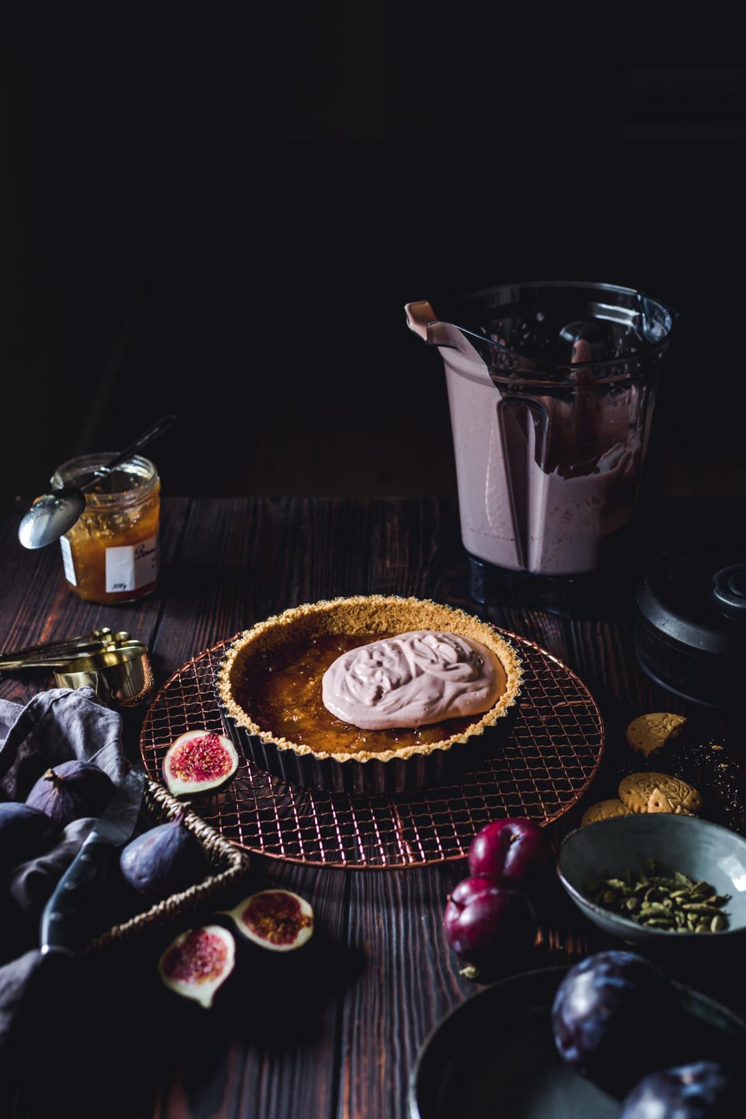 Creamy Plum Tart